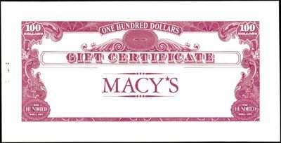 U.S. Macy's Gift Certificate Proofs and Productio - Archives ...