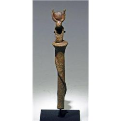 A Egyptian Bronze Staff with Uraeus - Rare!