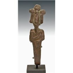 An Egyptian Bronze Miniature God Osiris