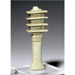 An Egyptian Faience Djed Pillar Amulet