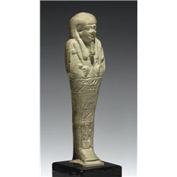 An Egyptian Glazed Faience Ushabti