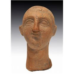 A Greek Terracotta Male Head