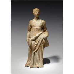 A Greek Tanagra Terracotta Standing Figure