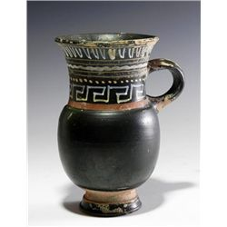 A Greek Gnathian Black-Glazed Thistle Beaker