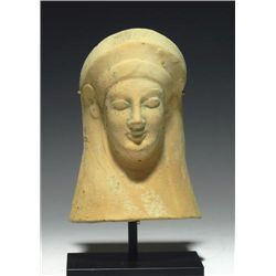 An Archaic Greek Terracotta Protome Goddess