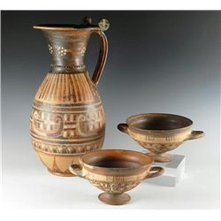 An Etruscan Pottery  Wine Grouping