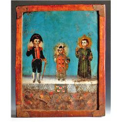 "South American ""2 Sided Retablo"" mid-1880s"