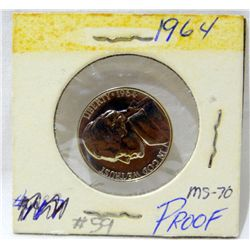 1964 Silver Jefferson Nickel Proof  MS70