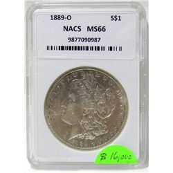 1889-O Morgan Silver Dollar NACS MS66