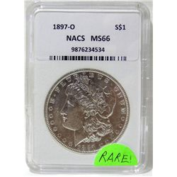 1897-O Morgan Silver Dollar NACS MS66