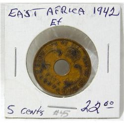 1942 British East Africa 5 Cents