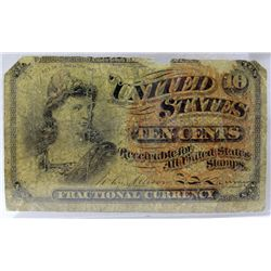 March 3, 1863 US Ten Cents Fractional Currency