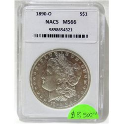 1890-O Morgan Silver Dollar NAC MS66