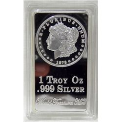 1 Troy Ounce .999 Silver/Clad Bar