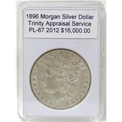 1896 Morgan Silver Dollar Pl-67 w/Appraisal