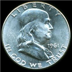1961 Franklin Silver Half MS65/66 ERROR (COI-10509)