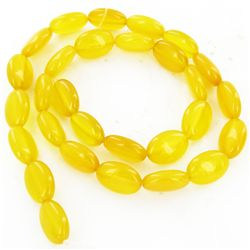 "165twc Yellow Chalcedony Bead Strand 16"" (JEW-2997)"