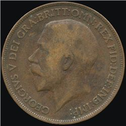 1917 Britain 1p F/VF ERROR (COI-8899)