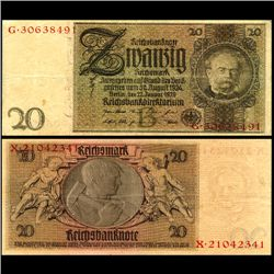1929 Germany 20 Mark Note Better Grade (CUR-06664)