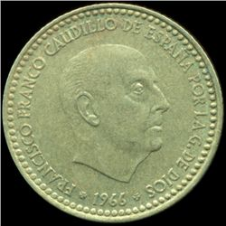 1970s Spain 1p ERROR XF (COI-10345)