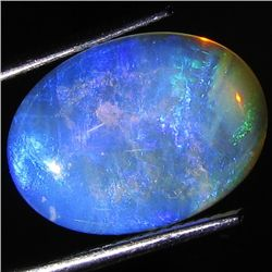 4.2ct Top Fire Australian Solid Opal Cab (GEM-46556)