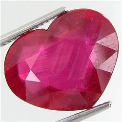 10.4ct Top Blood Red Ruby Heart (GEM-29408)