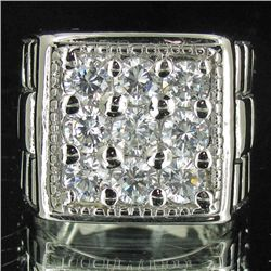 75.34twc Lab Diamond White Gold Vermeil/925 Ring (JEW-3971)