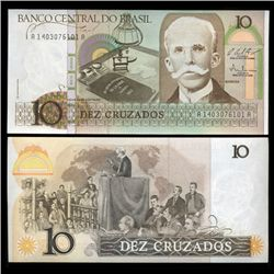 1986 Brazil 10 Crusados Crisp Uncirculated Note (CUR-05570)