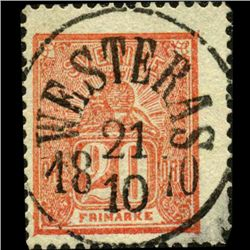 1866 Sweden 20O Stamp (STM-0838)