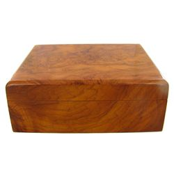 Handcrafted Afzelia Burl Box (DEC-544)