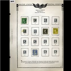 1914 US Stamp Album Page 4pcs (STM-1805)