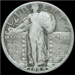 1929D Standing Liberty Quarter Better Circulated (COI-10672)