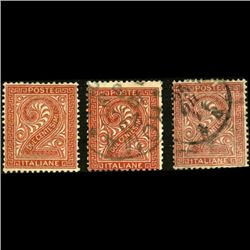 1863 RARE Italy 2c Stamps 3pcs (STM-1196)