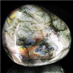 375ct Large Polished Rainbow Labradorite Cabochon (MIN-001640)