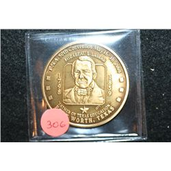 "2008 Texas Numismatic Assoc. Inc. 50th Convention Medal; Mirabeau B Lamar ""Father of Texas Education"