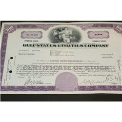 Gulf States Utilities Company Stock Certificate Dated 1965
