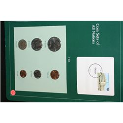 Fiji; Coin Sets of All Nations W/Postal Stamp Dated 1985