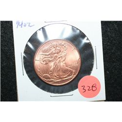 Golden State Mint Copper Round; .999 Fine Copper 1/4 Oz.