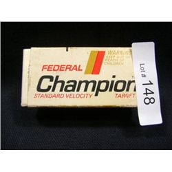 FEDERAL CHAMPION .22 CALIBER LONG LEAD TIP BULLETS 22 TOTAL