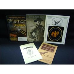 LOT OF BOOKS: VOYAGER, AMERICAN ANTIQUE GUNS BY THEIR CURRENT PRICES, THE POWDER HORN GUN SHOP INC,
