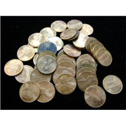 1990-2000 LINCOLN HEAD PENNIES (50) - MIXED MINT