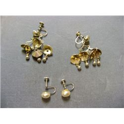 PAIR OF SCREW ON EARRINGS 2X MONEY