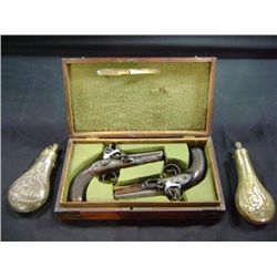 GREAT COACH 55 CALIBER PISTOLS (PAIR)  W. PARKER HOLBORN - LONDON - FORTES FORTUN JUVAT - PLATE ON C