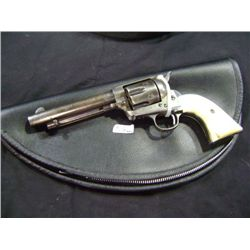 "SINGLE ACTION 4440 CALIBER COLT FRONTIER SIX SHOOTER, 5 1/2"" BARREL, PEARL GRIPS, 2ND GENERATION, AD"