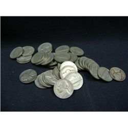 1941 JEFFERSON NICKELS 40X MONEY