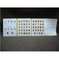 INDIAN HEAD CENT COLLECTION BOOK 1856-1909 (32 COINS)