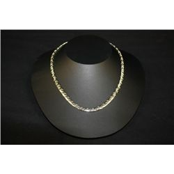 "18"" POSSIBLE WHITE GOLD FLAT STYLE CHAIN NECKLACE"