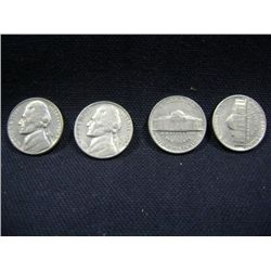 1962 JEFFERSON NICKELS 4X MONEY
