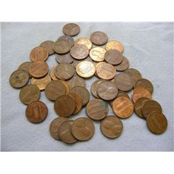 LINCOLN HEAD PENNIES (50) MIXED MINT - (13) 1977, (10) 1976, (17) 1975, (7) 1974, (3) 1973