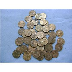 1970 LINCOLN HEAD PENNIES (50) MIXED MINT